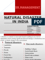 Natural Disaster in India