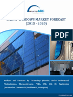 Demand from Architectural Segment driving the Smart Windows Market at a CAGR of 18.7% till 2020