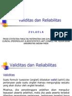 Validitas Reliabilitas Zul