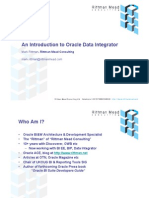 An Introduction to Oracle Data Integrator