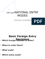 Entry Modes