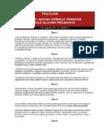 Pravilnik o Sadržini i Načinu Vršenja Tehničke Kontrole Glavnih Projekata
