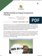 09_Mosaic - Realidad Aumentada Con Lenguaje de Programación Processing.pd09_f