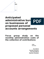 Anticipated Administrative Burdens on Businesses of Proposed Personal Accounts Arrangements-UK-2007