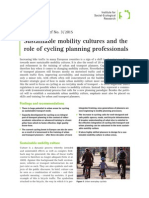Sustainable mobility cultures and the role of cycling planning professionals