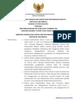 PERATURAN MENTERI PEKERJAAN UMUM DAN PERUMAHAN RAKYAT NOMOR 37/PRT/M/2015