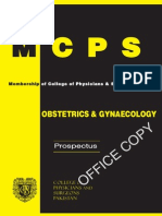 Obstetrics Gyn MCPS prospectus