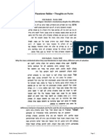 The Piacetzner Rebbe – Thoughts on Purim
