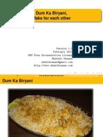 Dum Ka Biryani Make for Each Other
