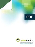 Valuetronics 2014 ANNUAL REPORT