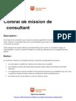 Contrat de Mission de Consultant (1)
