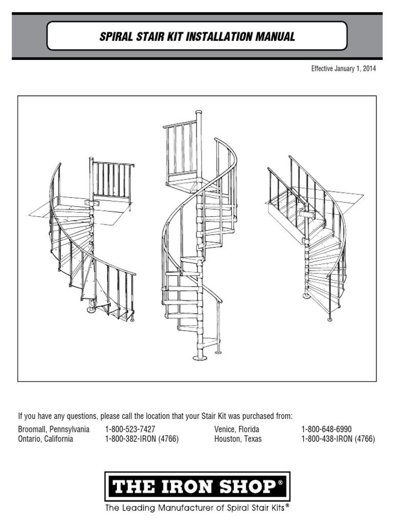 Metal Spiral Stairs Install Manual Screw Stair Diagram