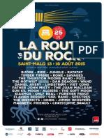 Le programme complet de la Route du Rock 2015