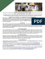 Jumaa Prayer Bulletin August 14, 2015