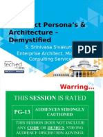 Architect Persona and Architecture Demystified TechEd India V0 2