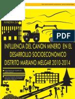 Influencia Del Canon Minero en El Desarrollo Socioeconomico en El Distrito de Mariano Melgar (2010- 2014)...
