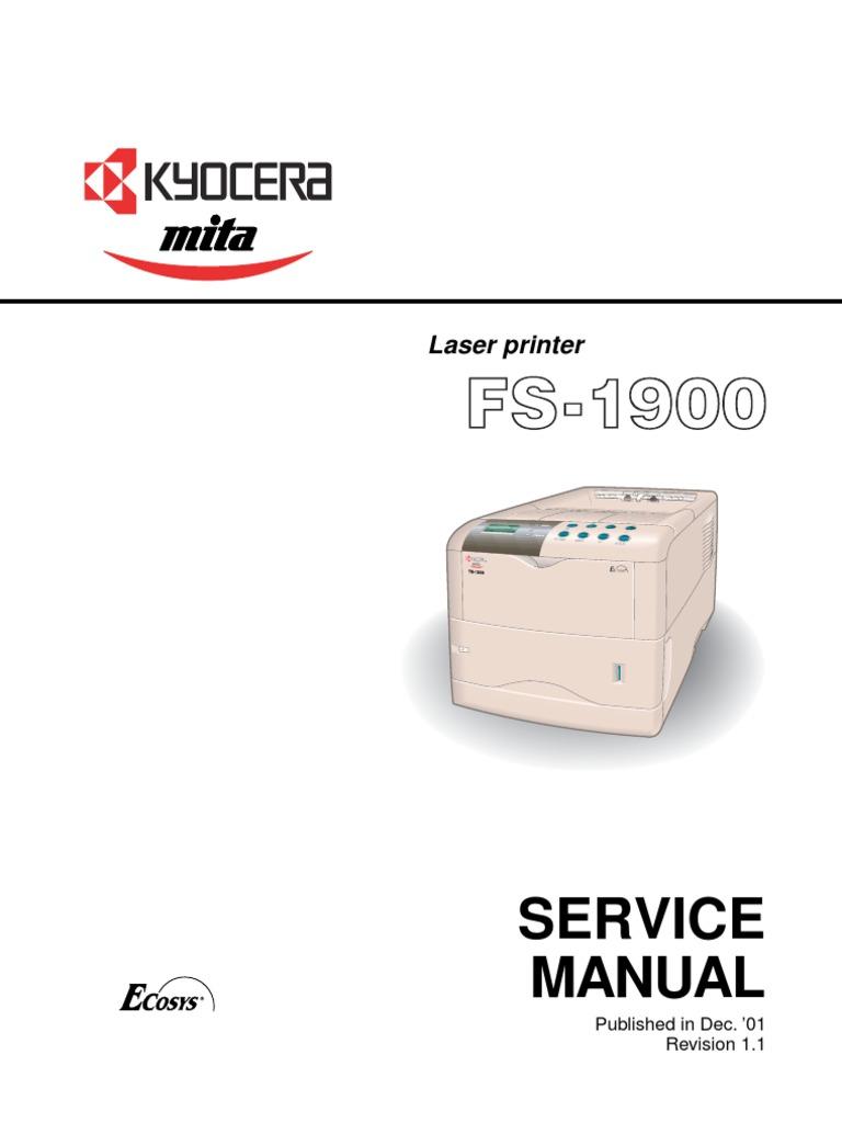 kyocera envelope feeder ef 1 service repair manual