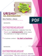 Introduction to Entrepreneruship