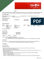 Lion Air ETicket (ZYZHYE) - Astika