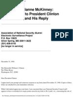McKinney - Letter to President Clinton