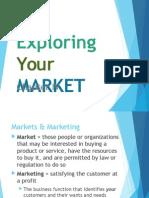 Exploring your Market
