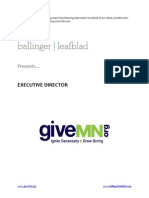 Position Profile - GiveMN - Executive Director