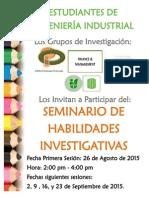 Seminario Habilidades Ivestigativas 2015-I