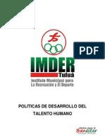 Manual de Politicas de Desarrollo Del Talento Humano