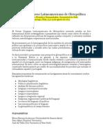 Congreso Latinoamericano de Glotopolítica 2015 (Chile) Convocatoria
