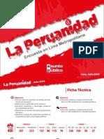La Peruanidad - Encuesta Realizada Por Asunto Público - Jul 2015