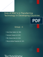 Role of MNC's in Transfering Technology