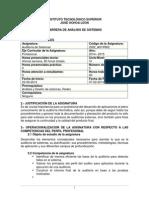 Syllabus de Auditoria Sist 2014