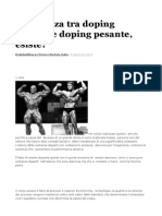 Differenza Tra Doping Leggero e Doping Pesante
