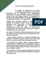 Analisis de Calidad como Instrumento Polisémico