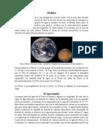 """Planeta Terrestre """"La Tierra"""""""