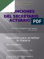 Funciones Del Secretario Actuario 2014 Completo