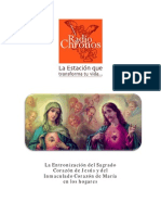 Entronizacion Del Sagrado Corazon de Jesus y Maria en Los Hogares