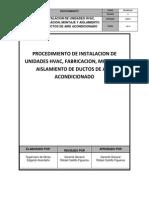 Procedimiento de Instalacion de Sistema Hvac