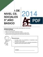 PRUEBA DE NIVEL 5° Ciencias Sociales