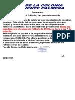 convocatoria presentacion 2007-08