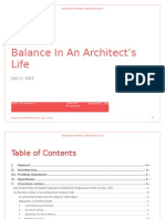 Balance In An Architect's Life