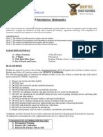 course syllabus- intro to math