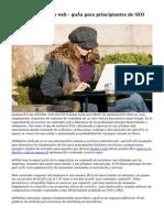 Escribir contenidos web - guía para principiantes de SEO