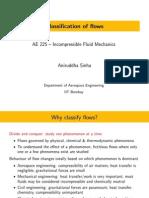 IncompFluidMech Lecture 03 FlowsClassify