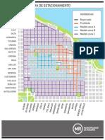 Plano de zonas tarifarias de estacionamiento medido en la ciudad de Rosario.