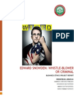 Edward Snowden Ethics