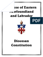 Constitution of the Anglican Diocese of Eastern Newfoundland & Labrador