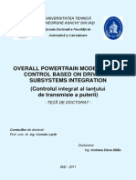 OVERALL POWERTRAIN MODELING AND CONTROL BASED ON DRIVELINE SUBSYSTEMS INTEGRATION