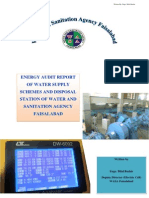 Energy Audit Report of WASA Faisalabad