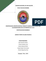 EXPORTACION DEL PRODUCTO AGRICOLA DE LA ACEITUNA VIA INTEROCEANICA EN LOS PERIODOS 2011-2015